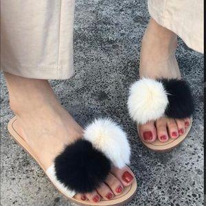 Shoes - Pom-Pom slides